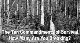 The Ten Commandments of Survival – How Many Are You Breaking?