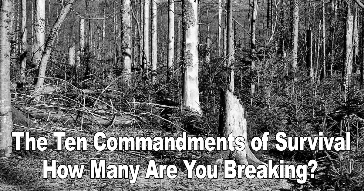 10 Commandments Of Survival
