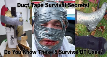 Duct Tape Survival Secrets – 5 Best Uses For Duct Tape When The SHTF!