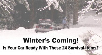 Winter's Coming – Is Your Car Ready With These 24 Survival Items?