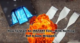 How To Start An Instant Fire With Nothing But A Gum Wrapper