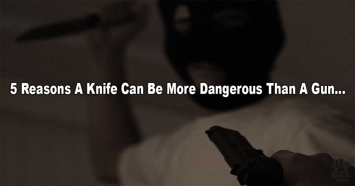 Knife More Dangerous Gun