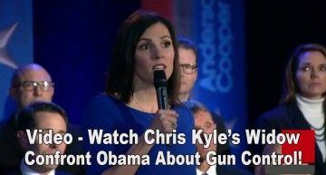 Watch Chris Kyle's Widow Confront Obama Over Gun Control!