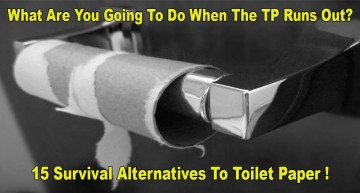 What Are You Going To Do When The TP Runs Out? 15 Alternatives To Toilet Paper!