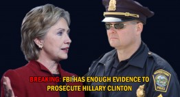 Developing: FBI Has Enough Evidence to Prosecute Hillary Clinton