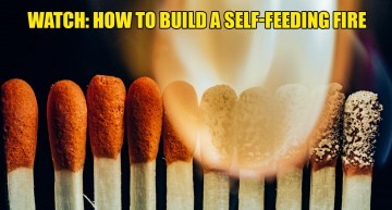 Watch: How To Build A Self-Feeding Fire