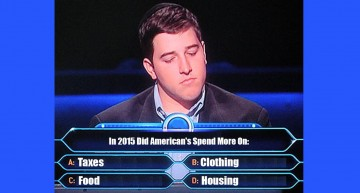 Quiz Time: In 2015 Did American's Spend More On Taxes, Housing, Clothing, or Food?