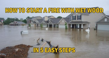 How To Start A Fire With Wet Wood in 5 Easy Steps