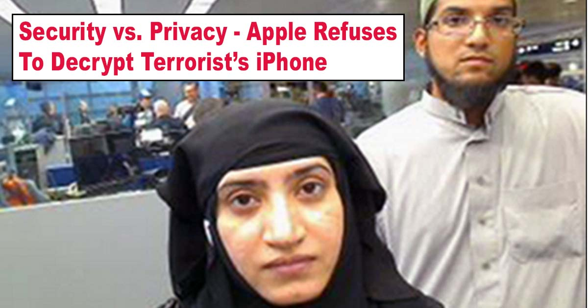 Apple Refuses FBI Decrypt