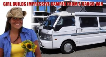 Girl Builds Impressive Camper From A Cargo Van