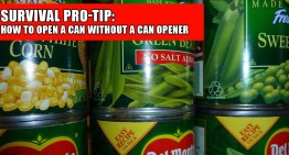 Survival Pro-Tip: How To Open a Can Without a Can Opener