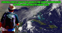 Survival Protip: Check This Website For Snow Accumulation In Your Camping Area or Hiking Trail