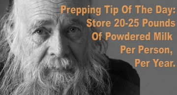 Prepping Tip Of The Day – Store 20 – 25 Pounds Of Powdered Mile Per Person, Per Year.